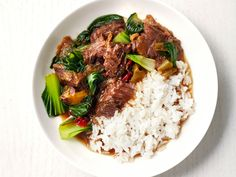 Slow-Cooker Chinese Beef and Bok Choy recipe from Food Network Kitchen via Food Network