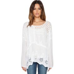 Johnny Was Mix Quilt Tunic (335 CAD) ❤ liked on Polyvore featuring tops, tunics, white, white tops, johnny was, johnny was tunic, johnny was tops and white tunic