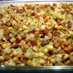Old Fashioned Bread and Celery Dressing or Stuffing Recipe ~ Says: Traditional moist dressing, baked outside of the bird. I make this when I am cooking a turkey breast without the cavity. chicken recipes dinners,cooking and recipes Thanksgiving Cakes, Thanksgiving Dinner Recipes, Thanksgiving Stuffing, Thanksgiving Side Dishes, Holiday Dinner, Best Turkey Stuffing, Turkey Gravy, Homemade Turkey Stuffing, Holiday Recipes
