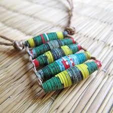 Image result for paper bead necklaces