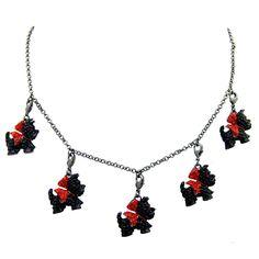 Butler & Wilson Crystal Scottie Dog Multi Charm Necklace - Agnes Scott Scotties