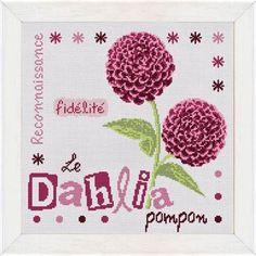Le Dahlia Pompon grille broderie Lilipoints J010 chez Univers Broderie