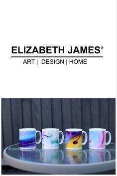 #homedecorideas #kitchendesign #giftideas Elizabeth And James, My Design, Mugs, Artwork, Shop, Color, Work Of Art, Cups, Tumbler