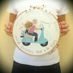 Cuadros personalizados y originales Embroidery Hoops, Design, Art, Made By Hands, Scrappy Quilts, Ornaments, Fabrics, Originals, Art Background