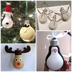Find fun creative christmas light bulb ornament ideas to make with your kids!