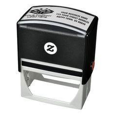 Business Return Address with Logo Self-inking Stamp Elegant Names, Custom Rubber Stamps, Address Stamp, Self Inking Stamps, Stamping Up, Rubber Stamping, Stamp Collecting, Business Logo, Custom Logos