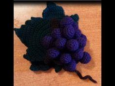 Uva all'uncinetto - amigurumi - tutorial crochet grape crochet - YouTube