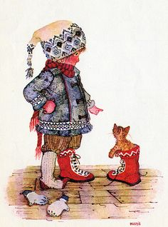 Holly Hobbie - snow boots.
