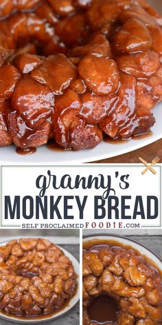 Recipes Easy Granny's Monkey Bread is a sweet, gooey, sinful cinnamon sugar treat that will be loved by young and old alike. Be careful, its dangerously addictive. Brunch Recipes, Sweet Recipes, Dinner Recipes, Best Breakfast Recipes, Restaurant Recipes, Sweet Desserts, Easy Desserts, Dessert Recipes, Best Bread Recipe