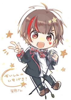 Cute Anime Guys, All Anime, Otaku Anime, Anime Art, Vocaloid, Neko Kawaii, Honey Works, Chibi Couple, Anime Child