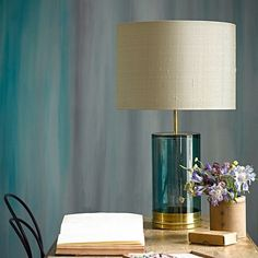 Regular Wisteria table lamp in bluey green glass Table Lamps Table Lamp Base, Lamp Bases, Table Lamps, Table Lighting, Pendant Lighting, Clear Glass Vases, Glass Table, Pooky Lighting, Wedding Gifts For Bride And Groom