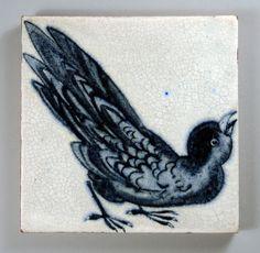 William De Morgan bird tile | Flickr : partage de photos !