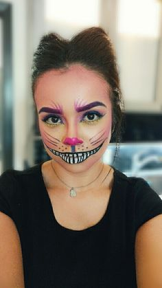 Cheshire Cat Makeup #ChesireCat #Halloween  IG: @LiveLoveLyssss