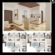 White House Theme Wet & Dry Kitchen Interior Design Kitchen