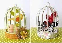 Cómo hacer una bonita jaula de cartón : cositasconmesh