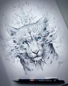 JoJoes Art | Snow Leopard