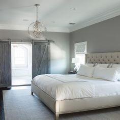 Master Bedroom Grey Walls cory connor design - bedrooms - benjamin moore - san antonio gray