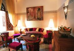 Moroccan Themed Living Room | ... Colors And Dark Woods U003d LUV! Moroccan