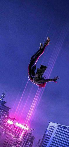 Spider-Man: In the Spider-Verse, Dive, Jump, Fan Art Wallpaper - Avengers Endgame Black Spiderman, Spiderman Spider, Amazing Spiderman, Marvel Memes, Marvel Avengers, Punisher Marvel, Ms Marvel, Captain Marvel, Diving