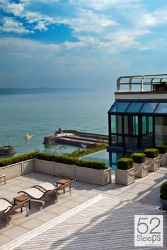 (Week 28: 7th - 13th July) St Bride's Spa Hotel. Take in the award-winning views of Carmathen Bay from the outdoor Marine Hydro Pool at this stunning spa hotel. It's also a fantastic time to see Pembrokeshire's puffins.