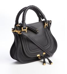 741cf69819af CHLOE Black Leather 'Marcie' Tote Bag Chloe Marcie Bag, Fab Bag, Clutch