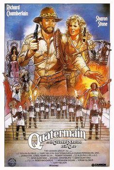 Allan Quatermain y la ciudad perdida del oro Movie POSTER (1987) acción/aventura
