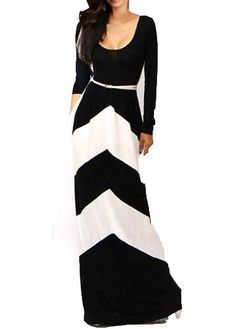 Comfy Round Neck Long Sleeve Maxi Dress