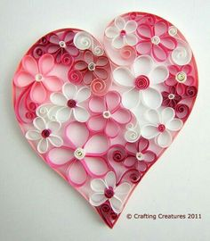 quilling, paper heart