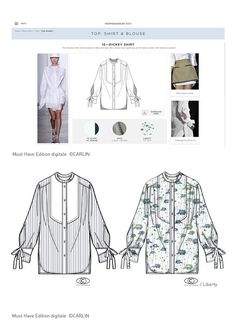- SS 2017 - For the spring-summer season 2017, Carlin Creative Trend Bureau associated with the school of fashion Istituto Marangoni of Paris for a creative collaboration through a shirt style-exercise.