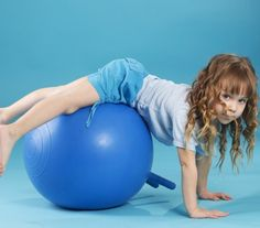 The Easiest Core Strengthening Exercises for Kids – The Inspired Treehouse Core strengthening for kids: ideas for making strengthening fun from a pediatric physical therapist. Great for functional posture, motor skill development, handwriting and more! Pediatric Occupational Therapy, Pediatric Ot, Yoga For Kids, Exercise For Kids, Children Exercise, Exercise Ball, Physical Exercise, Physical Development, Child Development