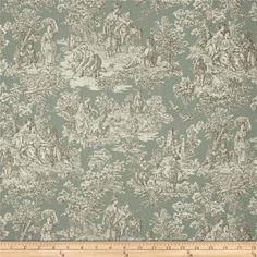 Ready to Ship Waverly Rustic Life Toile Bliss grey ivory light teal 12 x 18 Zipper Closure Pillow co Dining Room Curtains, Waverly Fabric, Ranch Decor, Colorful Curtains, Light Teal, Fabulous Fabrics, Home Decor Fabric, Album, Amazon Art