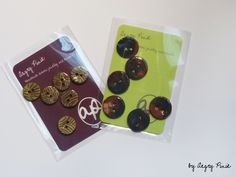 handmade buttons in ceramic by angry pixie. available in various colours. angrypixie.co