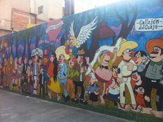 mural de la Familia Burrón, comic tradicional chilango