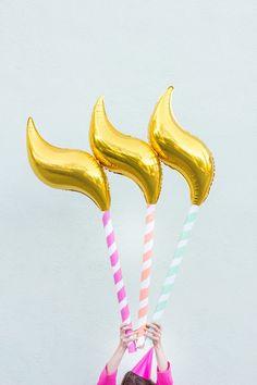 10 Perfect DIYs for a Creative Birthday Bash via @mydomaine Birthday candle balloons
