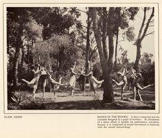 """Dance in the woods"", choregraphe: Margaret Morris, ca. 1920, photo: Fred Daniels"
