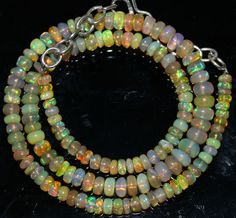 "54 Crts 1 Strands 4 to 6 mm 15"" Beads Ethiopian Welo Opal  AA+++42951"