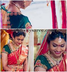 Bride in Bhargavi Kunam Rich Blouse | Saree Blouse Patterns