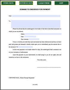 Payment Form Template Magnificent Demand Notice For Payment  Template  Pinterest