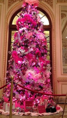 Pink - October is Breast Cancer Awareness month... put pkgs with pink awareness ribbons under the tree., pink pumbkins decorated with awareness ribbons.....etc.