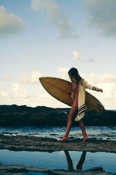 surf style surfing, board, sea sun beach girl good time cloud,