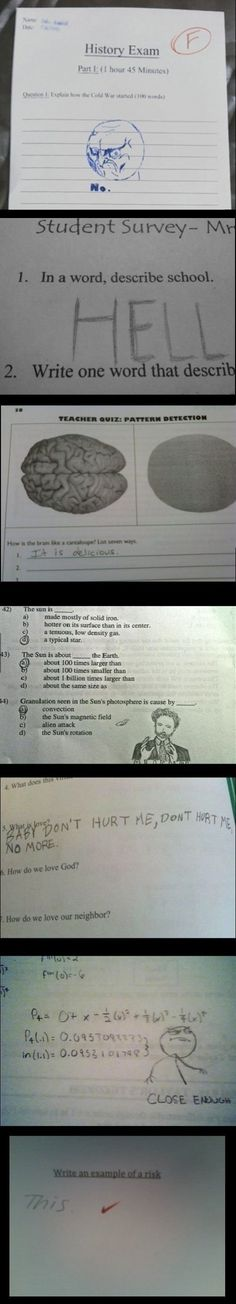 Funny Answers, I cant believe they can DRAW memes like that.