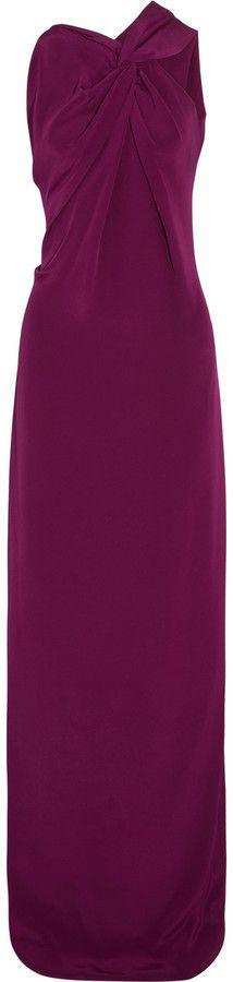 Roland Mouret Gazella Twist-Front Silk Gown on shopstyle.com