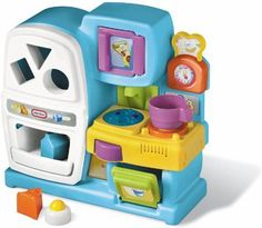 Best Christmas Toys for 1 Year Old Girls - The Perfect Gift Store - my one year old loves this pretend kitchen! #BestGifts