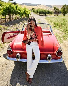 A modern classic staple: a feminine diamond-textured jacket in a bold autumn shade. Private Brand, Modern Classic, Louis Vuitton Speedy Bag, Talbots, Red Color, Spring Summer Fashion, White Jeans, Feminine, Plus Size