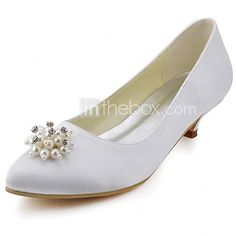 Women's Wedding Shoes Heels/Closed Toe Heels Wedding Black/Blue/Yellow/Pink/Purple/Red/Ivory/White/Silver/Gold/Champagne - CAD $48.64