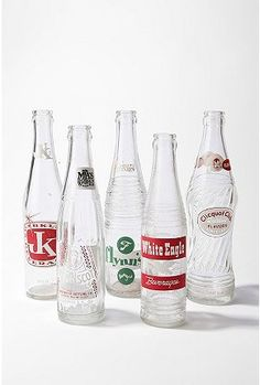 Vintage glass bottles for a throw back to the good 'ol days