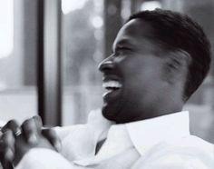 Denzel Washington. Beautiful....though, laughing is always beautiful.