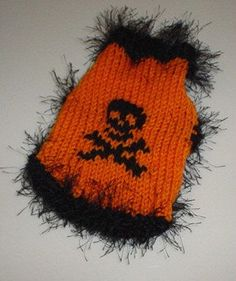 XXS Halloween Skull Jolly Roger Dog Sweater by RocknHotdog on Etsy, $14.00