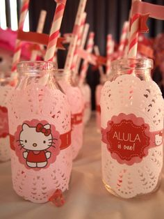 Drinks at a Hello Kitty Party #hellokitty #partydrinks