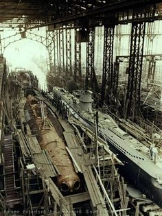 Construction of the Type VII U-Boats at Blohm & Voss Shipyard in Hamburg: